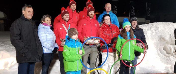 Grosser, herzlicher Empfang der Olympioniken in Parpan